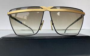 Vintage 1980's Laura Biagiotti Italian Sunglasses T/ 60-71 (Black/Gold)
