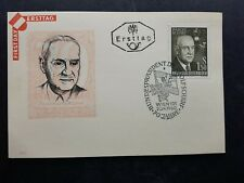 AUSTRIA 1960 Adolf Scharf 70 years First Day unaddressed FDC post card