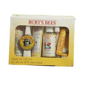 Burt's Bees Head To Toe Kit 6 Items Lotion Body Wash Foot Cream Travel Size Gift