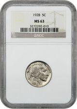 1928 5c NGC MS63 - Buffalo Nickel