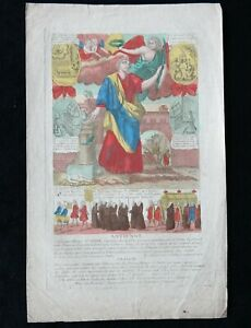 "★★Image Pieuse Gravure XVIIIe couleurs BASSET ""O glorieux Martyr Saint Ovide"""