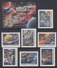 UZBEKISTAN 1997 FANTASY SPACE CRAFT SET (x7) & M/S MINT (ID:903/D55547)