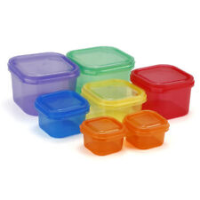 Plastic Portion Control Lunch Box Meal Prep Food Storage Container Set NEW WB1
