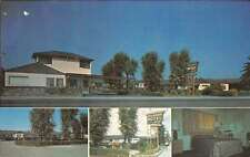 Santa Rosa California interior/exterior views Pelissier Motel vintage pc Y13312
