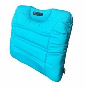 SITBACK AIR Fahrzeug Rückenkissen mit aufblasbarem Luftkissen südsee blau