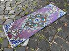 Handmade rug, Bohemian rug, Turkish vintage rug, Small rug | 1,1 x 3,1 ft