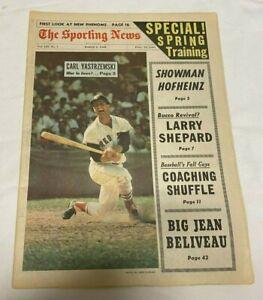 March 2, 1968 The Sporting News Newspaper---Carl Yastrzemski  VG