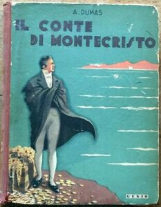 Alexandre Dumas Il conte di Montecristo Genio 1950 illustrazioni Domenico Natoli