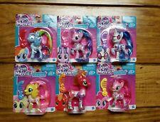 MLP My Little Pony Movie Complete Set 6 Brushable McIntosh DJ Starlight Dash Pie