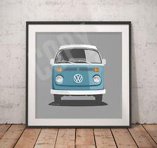 VW Camper Print - 30cm x 30cm - Heavy Weight 300gms Paper