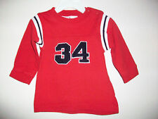 Boys Size 6-9 Months TINY TOTS Red Long Sleeve Top