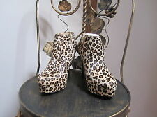 Animalprint platform shoe boot UK3