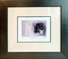 G H Rothe VIOLETS Original Mezzotint Etching Custom Framed. LE Submit your Offer