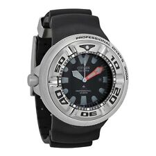 Citizen Professional Diver Sport Black Dial Rubber Mens Watch BJ8050-08E