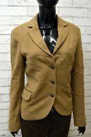 Giacca Vintage Donna in Lana MASSIMO DUTTI Taglia L Blazer Jacket Woman Italy