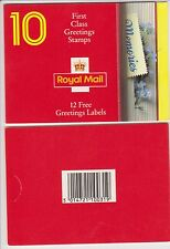 GB Barcode Stamp Booklet KX4 Greetings 1992 Memories  12x1st class