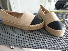 Primark Beige/black Canvas Shoes 4