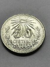 1937 Mexico 50 Centavos Silver AU++ #6169