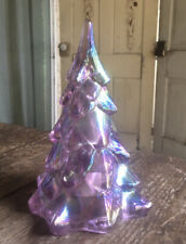 Fenton Art Glass Pink Christmas Tree