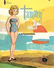 VINTAGE 1962 TAMMY PAPER DOLLS ~ADORABLE LASER REPRODUCTION~ORIG SIZE UNCUT