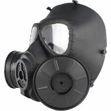 NEW Black Gas Mask Double Filter Fan Perspiration Dust Eye Protect Face Guard