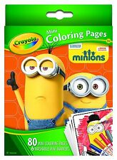 Minions - Crayola Mini Coloring Pages with markers
