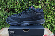 NIKE AIR JORDAN 11 RETRO XI LOW BG GS SZ 7 Y BLACK TRUE RED REFEREE 768873 003