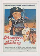 MUTINY ON THE BOUNTY MARLON BRANDO GERMAN COLLECTOR'S CARD SUPERB ARTWORK!
