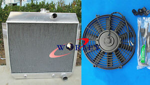 3 ROW Aluminum Radiator & FAN For CHEVY L6 Bel Air cars W/COOLER 1951-1953 52
