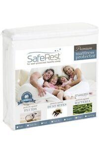 SafeRest Premium Waterproof Hypoallergenic Vinyl Free Mattress Protector TwinXL