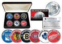 NHL ORIGINAL SIX TEAMS Royal Canadian Mint Medallions 6-Coin Set w/Display Box