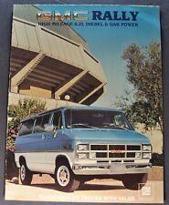 1983 GMC Rally Van Truck Sales Brochure Folder STX Excellent Original 83