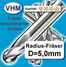 Vollhartmetall Radiusfräser 5mm Schaft=6*50mm f. Kunststoff Holz VHM TiAlN