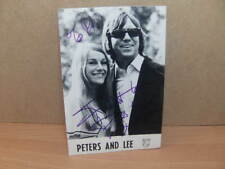 More details for peters & lee – signed photocard 1973