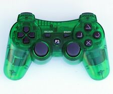 Transparent Wireless Remote PS3 Controller Gamepad 4 use with PlayStation3 Green
