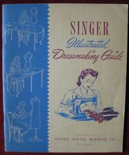 Vintage 1943 Singer Illustrated Dressmaking Guide Sewing Methods Fashion Aids