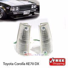 Corolla E70 KE70 E70 TE71 DX Pair Front Indicator Corner Light Lamps -New