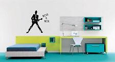 Guitar Rock & Roll Wall Sticker Wall Art Decor Vinyl Decal Sticker Mural