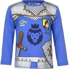 Neu Langarmshirt Jungen Pullover Playmobil blau grau orange 98 104 116 128 #50