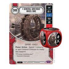 #31 General Grievous' Wheel Bike Star Wars Destiny Way of the Force w/Card/Die