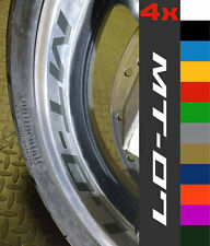 4x Yamaha MT-07 Wheel Rim Sticker Decal Motorcycle Vinyl MT07 MT 07 700 Tracer
