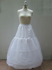 New White Wedding Prom Ball Gown 3-HOOP Crinoline Petticoat Under Skirt PE8878#