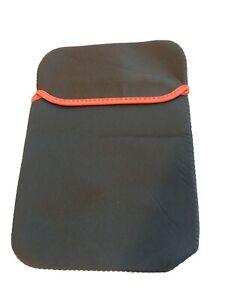 i Pad Kindle Nook Neoprene Case cover holder protector Black red trim US Seller
