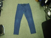 """Select Mid Rise Skinny Jeans Size 14 Leg 31"""" Faded Dark Blue Ladies Jeans"""