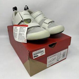 Specialized TRIVENT SC Carbon Triathlon Shoes EU 43.5 US 10.25 White MSRP $275