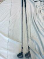 Set of 2 Vintage TaylorMade Burner Dynamic Gold R300U Golf Clubs RH