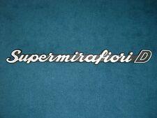 Emblem / Badge Fiat 131 Supermirafiori D Diesel Plastik