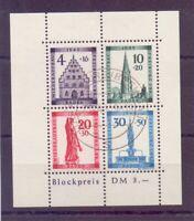 Frz. Zone Baden 1949 - Block 1 A gestempelt - Michel 280,00 € (841)