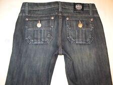 Rock & Republic Jimmy Jeans Low Bootcut w Flap Utility Pocs Dark Sz 25