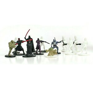 Star Wars EPIC DUELS Game Pieces | Random Lot of 13 Miniature Figures | MB 2002